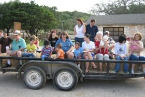 Hay rides at Silver Spur Ranch.