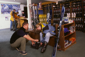 Ski shop at Inns of Banff.