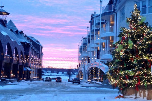 Winter time at Bay Harbor Resort and Marina.