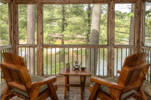 Cottage deck view at The Lodge at Pine Cove.