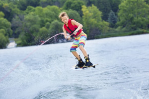 Jet skiing at Spicer Green Lake Resort.