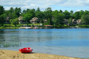 Lake view at Bayview Wildwood Resort.