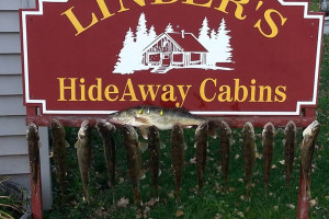 Fishing at Linder's HideAway Cabins.