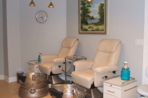 Spa pedicure at Saybrook Point Inn.