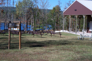 Recreational area at Lindsey's Rainbow Resort.