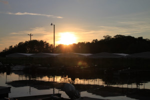Sunset at Brindley's Harbor Resort.