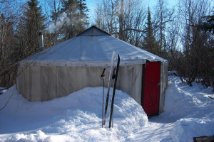 Wilderness yurts at Poplar Creek  B & B.
