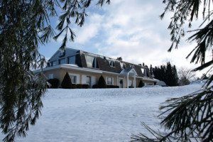 Exterior view of TimberMist Bed & Breakfast.