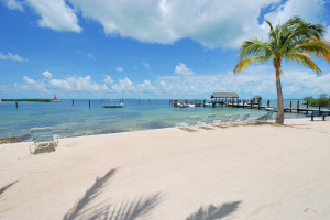 The beach at iTrip - Islamorada.