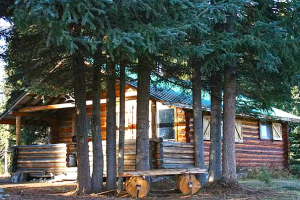 Exterior view of Laidman Lake Ecolodge.