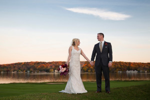 Wedding couple at Inns of Geneva National.