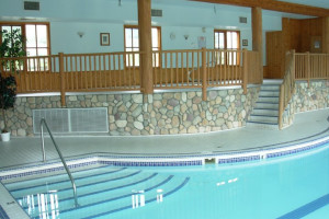 Indoor swimming pool at Glacier House Hotel and Resort.