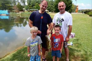 Family fishing at Yogi Bear's Jellystone Park Luray.