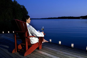 Relaxing by the lake at The Rosseau, A JW Marriott Resort & Spa.