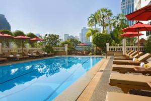 Outdoor pool at Amari Boulevard Hotel.