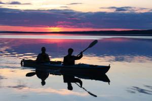 Canoeing at Kenai Backcountry Lodge.