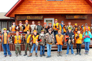 Youth hunting at Viking Valley Hunt Club.