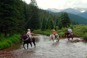 Trail ride at Tumbling River Ranch.