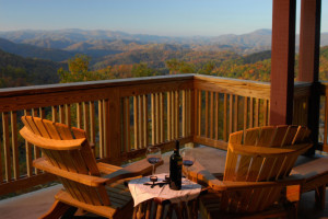 Romantic view from Cabin at Foscoe Rentals.