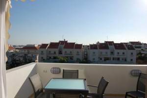 Rental balcony at David Gaffan Holiday Apartments.