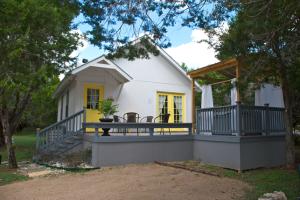 Cottage exterior at Cypress Creek Cottages.