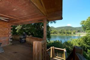 Cottage deck view at Norfork Resort & Trout Dock.