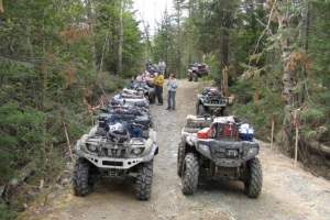 ATV trails at Northern Outdoors.