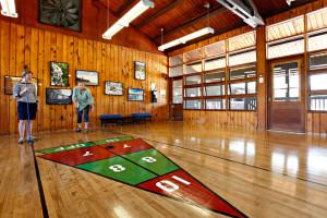 Shuffle board at Killarney Mountain Lodge.
