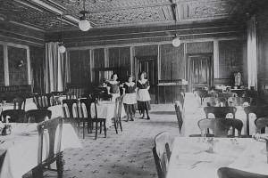 Historic photo of St. James Hotel.