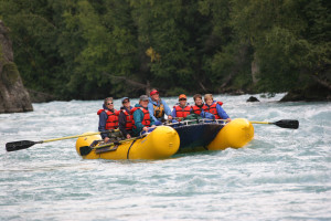 Rafting at Kenai Riverside Lodge.
