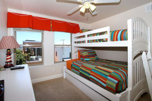 Rental bedroom at Coastal Vacation Rentals.