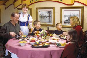 Family dining at Bavarian Inn of Frankenmuth.