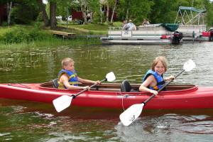 Kayaking at Cedar Point Resort.