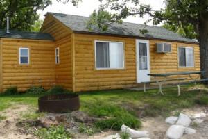 Cabin exterior at Wild Walleye Resort.