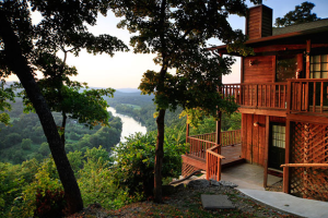 Cabin view at Can-U-Canoe Riverview Cabins