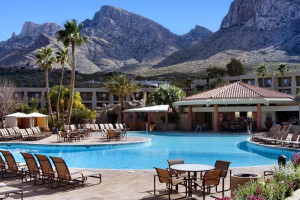Outdoor pool at Hilton Tucson El Conquistador Golf & Tennis Resort.