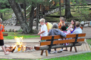 Fire pit at White Birch Village Resort.