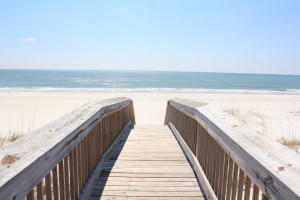 Boardwalk to beach at Luxury Coastal Vacations.