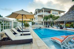 Outdoor pool at Iguana Reef Inn.