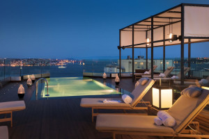 Hot tub at Swissôtel Istanbul - The Bosphorus.