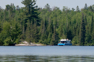 Houseboat on lake at Timber Bay Lodge & Houseboats.