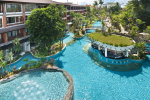 Outdoor pool at Bali Padma Hotel.