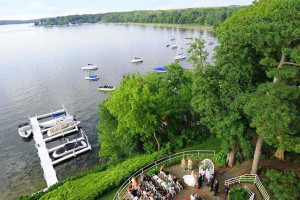 Wedding by the lake at The Geneva Inn.