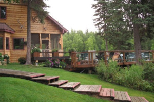 Resort view of Northwoods Lodge.