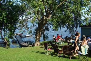 Lake view at Anglers Retreat.