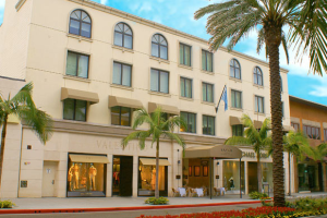 Exterior view of Luxe Hotel Rodeo Drive.