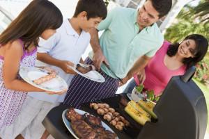 Outdoor grill at Oxen Yoke Inn.