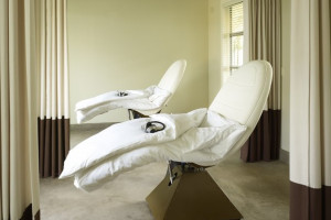 Spa treatment at Solage Calistoga.