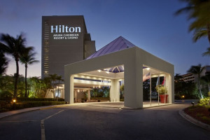 Exterior view of Hilton Aruba Caribbean Resort.