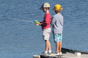 Fishing at Skytop Lodge.
